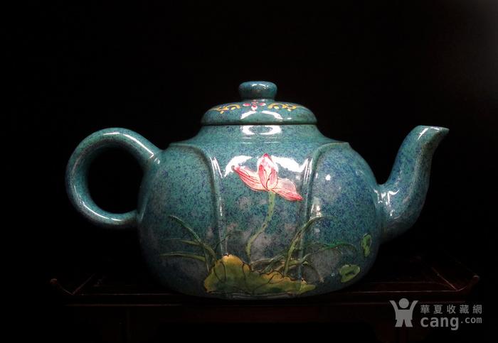 文革珐琅彩紫砂壶图2