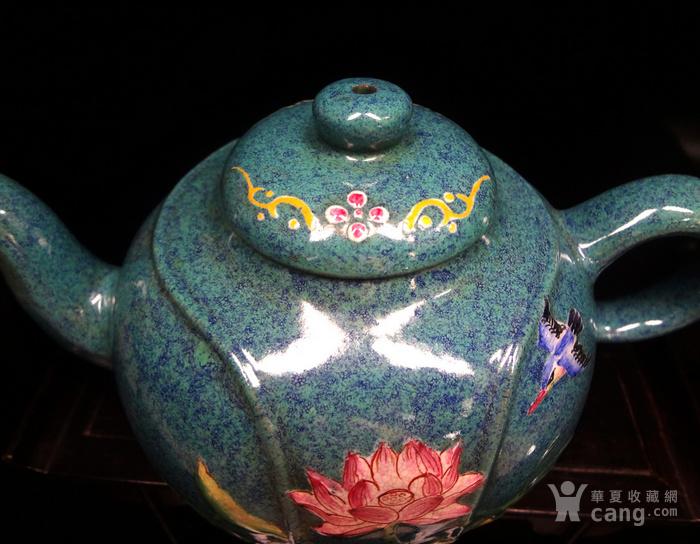 文革珐琅彩紫砂壶图7