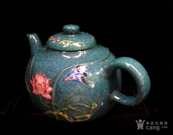 文革珐琅彩紫砂壶图6
