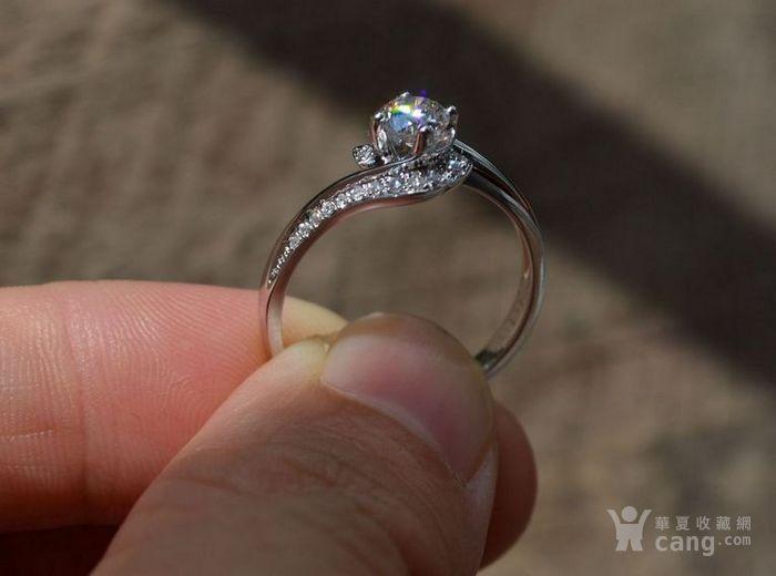 女款钻戒 18K金镶天然南非钻石戒指 32分E色VS1净度图2
