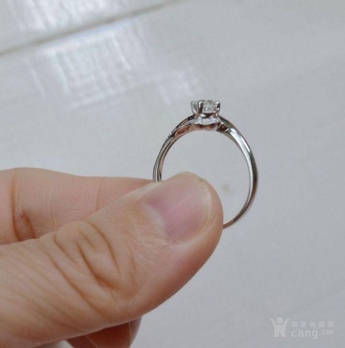 女款钻戒 18K金镶天然南非钻石戒指 32分E色VS1净度图6