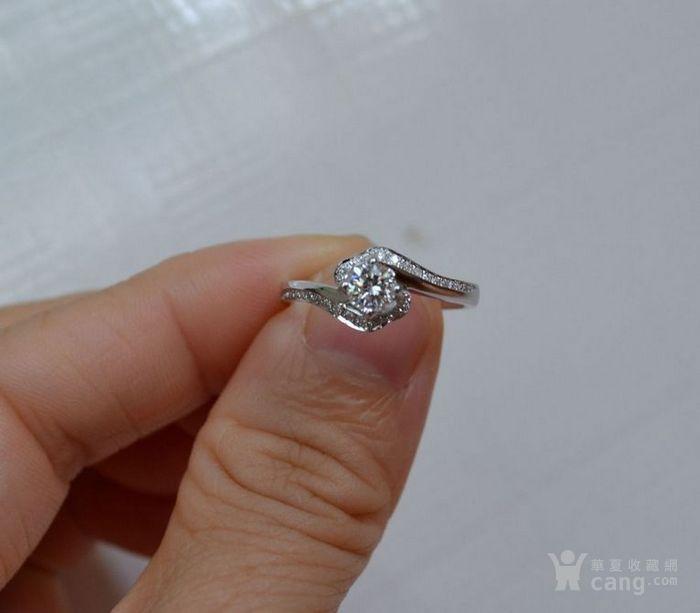女款钻戒 18K金镶天然南非钻石戒指 32分E色VS1净度图5