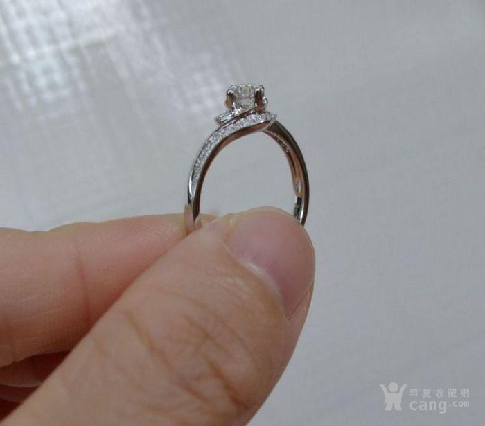 女款钻戒 18K金镶天然南非钻石戒指 32分E色VS1净度图7