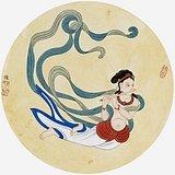 四川省工笔画学会会员曾俊《飞天》