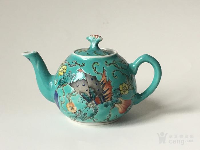 清晚民国瓜瓞绵绵小茶壶图1