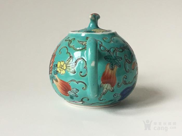 清晚民国瓜瓞绵绵小茶壶图2