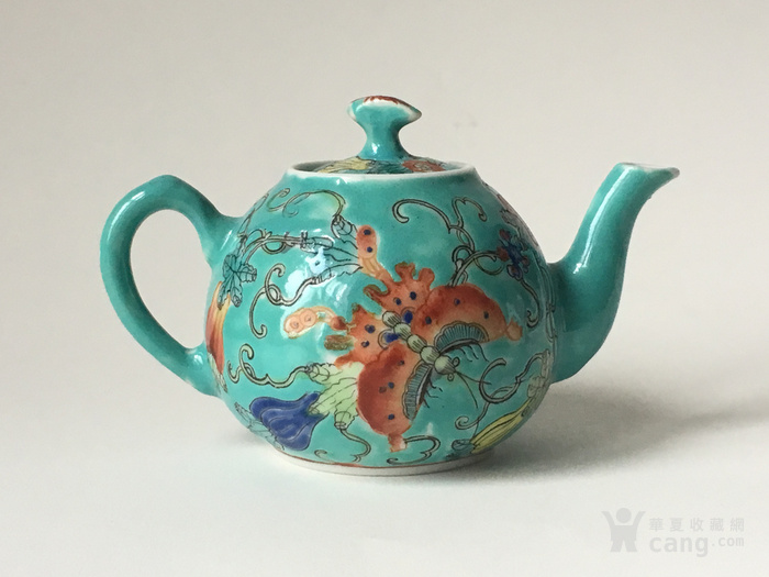 清晚民国瓜瓞绵绵小茶壶图3