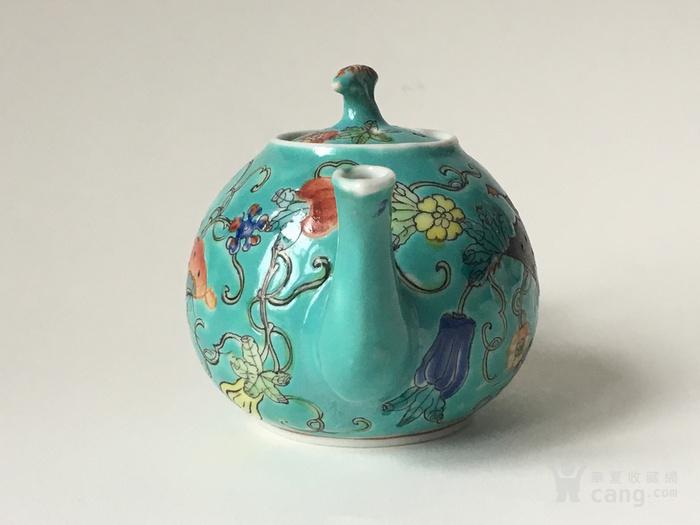 清晚民国瓜瓞绵绵小茶壶图4