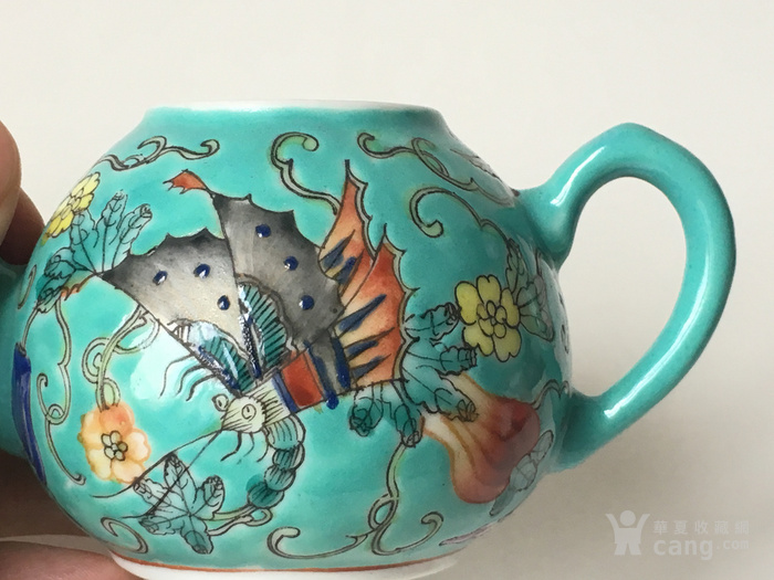 清晚民国瓜瓞绵绵小茶壶图5