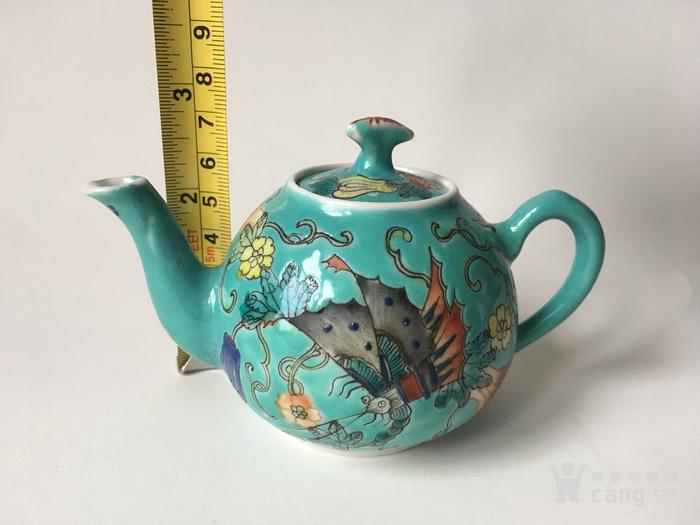 清晚民国瓜瓞绵绵小茶壶图10