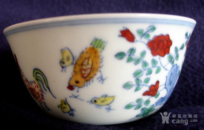 大明成化年制斗彩鸡缸杯斗彩瓷器