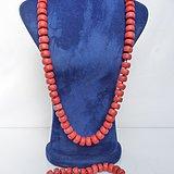天然老红珊瑚盘珠项链和手链一套