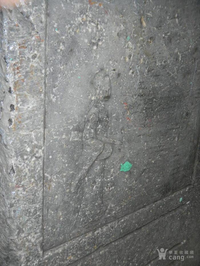 青石人物画双面雕石屏图6