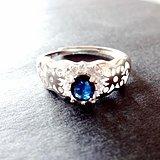一口价低卖天然蓝宝石戒指 带证书 158