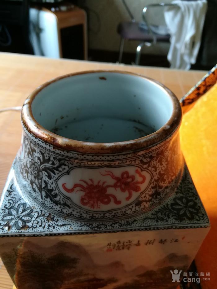民国名家张志汤作品琮瓶。名家精品图5