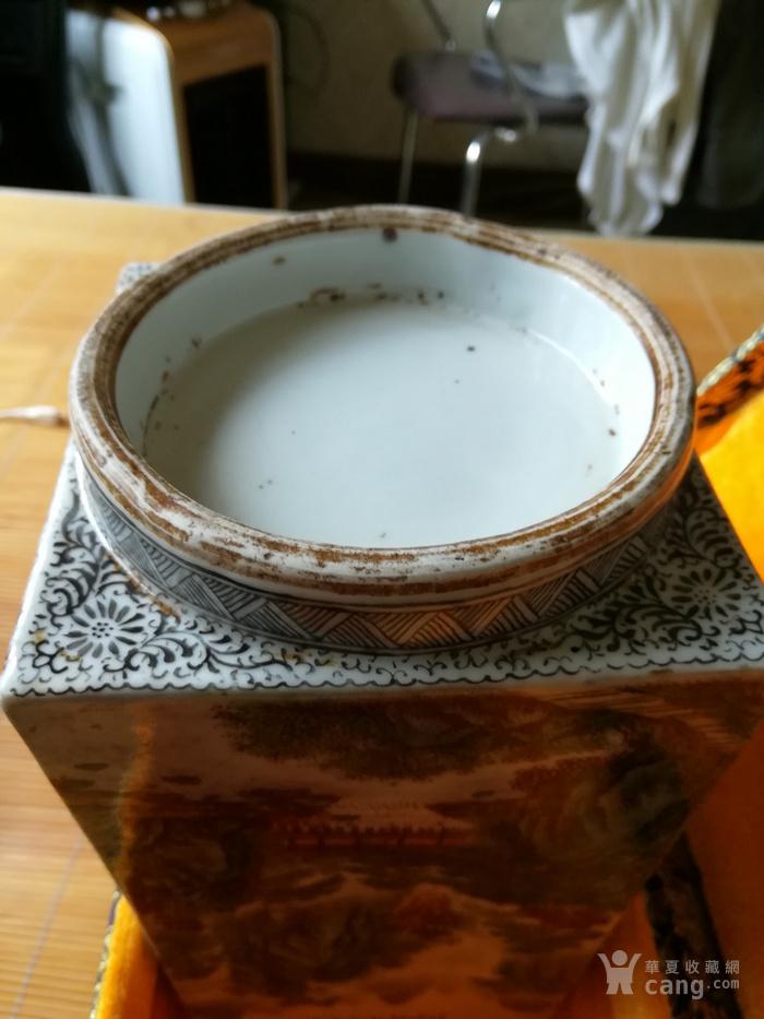 民国名家张志汤作品琮瓶。名家精品图6