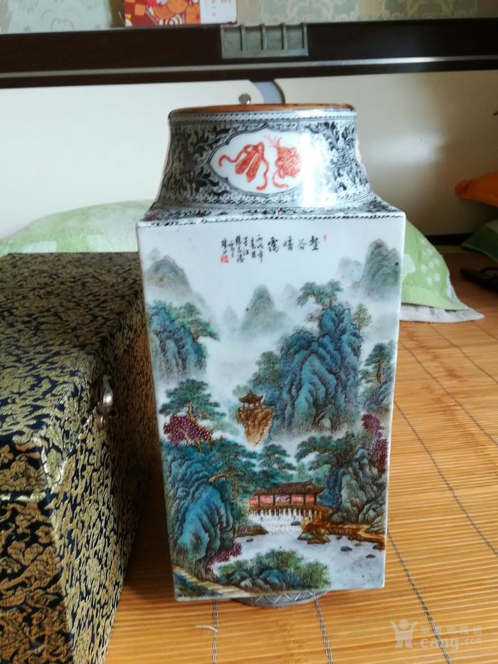 民国名家张志汤作品琮瓶。名家精品图8