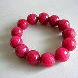 巴西玫瑰红宝石手串