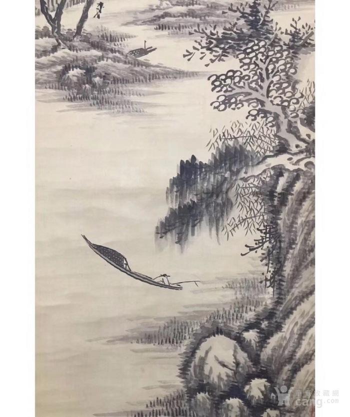 日本回流山水墨画图