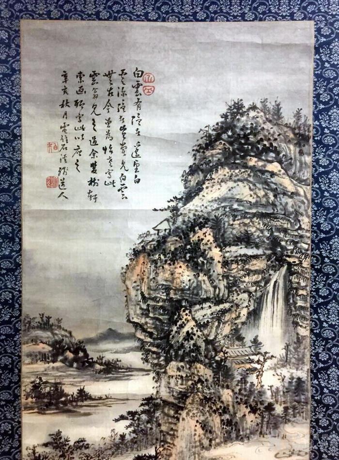 清代  石溪 山水图2