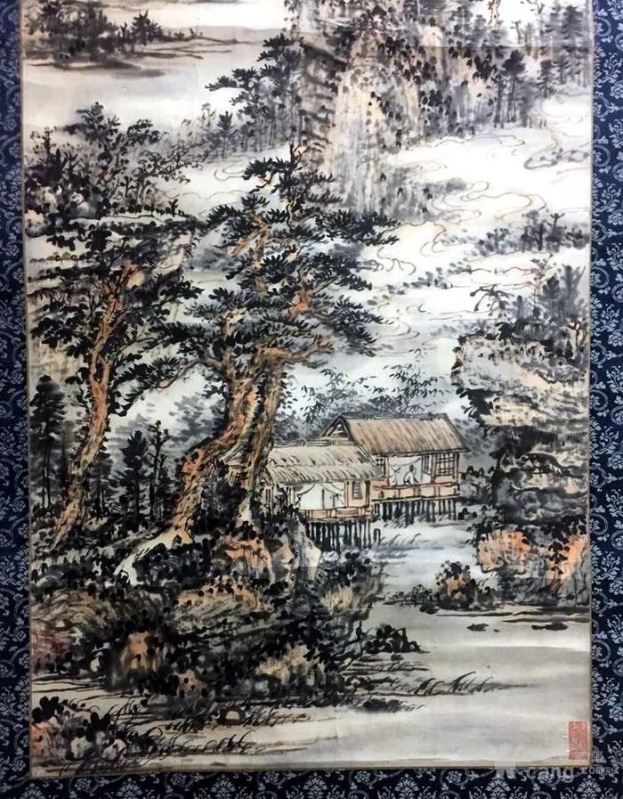 清代  石溪 山水图3