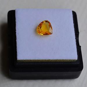纯黄色蓝宝石 斯里兰卡纯天然水滴型1.00克拉蓝宝石