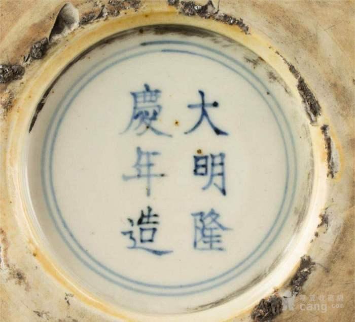 明代隆庆官窑红绿彩福禄寿三足夔龙纹鼎式炉图10