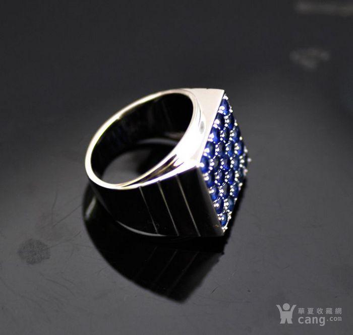 皇家蓝蓝宝石男戒 天然斯里兰卡皇家蓝蓝宝石18K金戒指图3