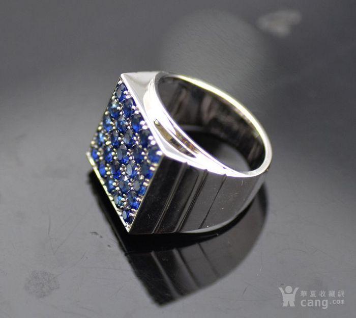 皇家蓝蓝宝石男戒 天然斯里兰卡皇家蓝蓝宝石18K金戒指图5