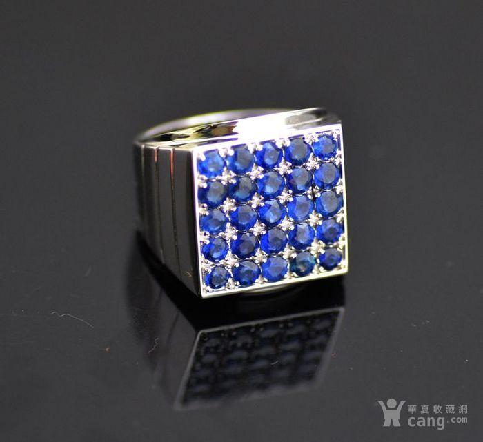 皇家蓝蓝宝石男戒 天然斯里兰卡皇家蓝蓝宝石18K金戒指图6