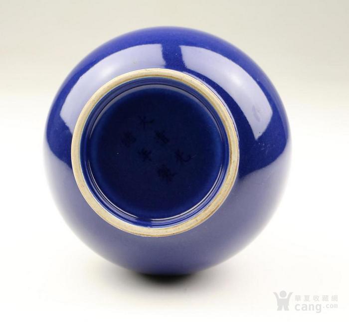 清光绪官窑霁蓝釉蒜头赏瓶图8