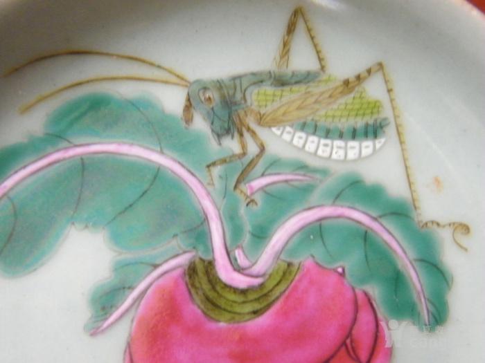 漂亮的粉彩盘图3