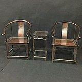 红酸枝圈椅一套