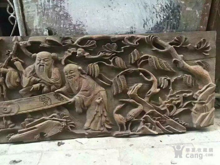 清代木雕人物五老观图图4