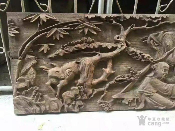 清代木雕人物五老观图图6