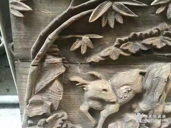 清代木雕人物五老观图图7