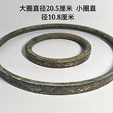 木器镶嵌铜箍 金银交错