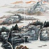 当代最具增值潜力画家饶森林山水4条