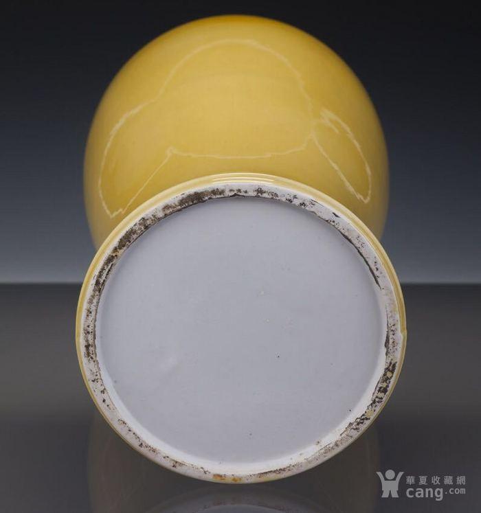 清雍正柠檬黄釉观音尊图10