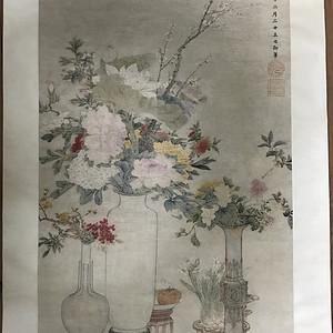 清末时期花卉静物工笔画