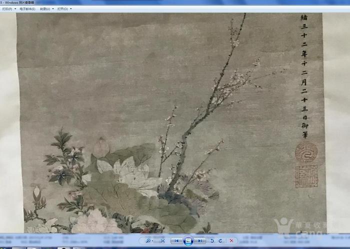 清末时期花卉静物工笔画图4