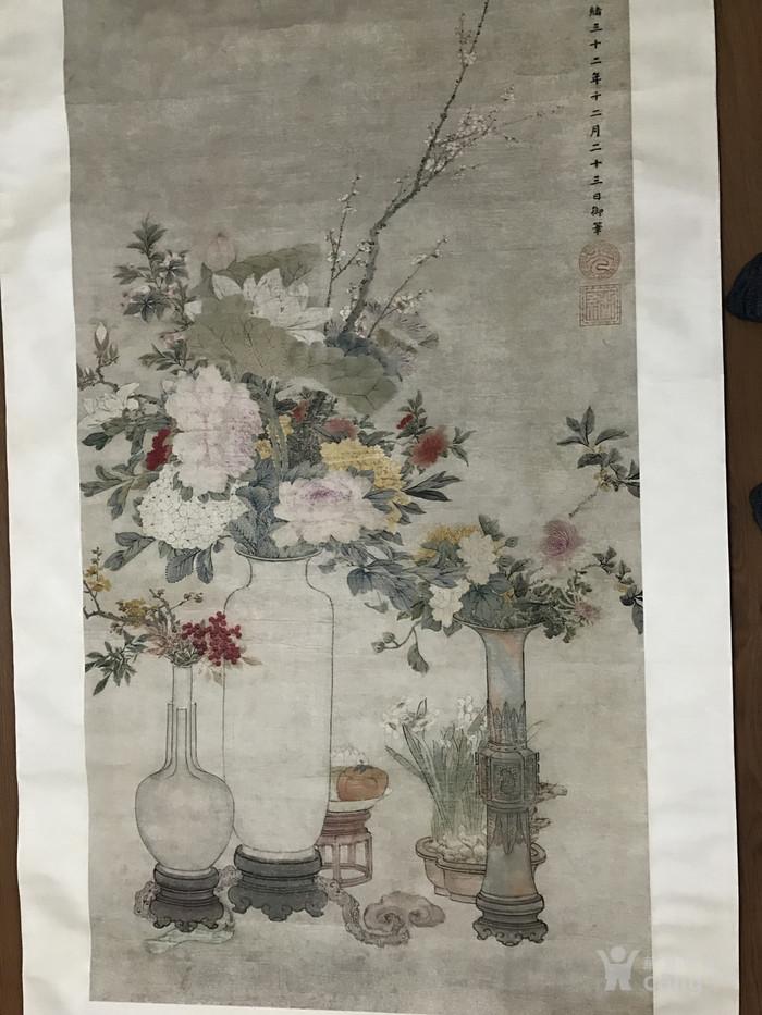 清末时期花卉静物工笔画图9