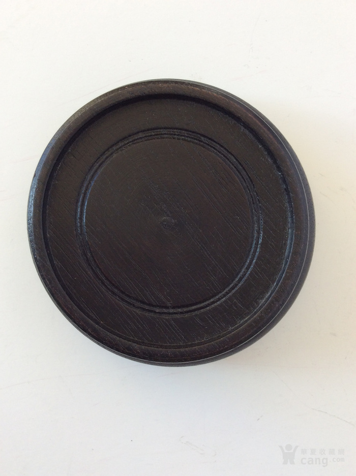 美国回流兴业坊 老景泰蓝圆盒一件带木座。-图8