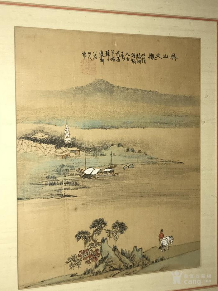 疑似清代画家邓涛绢本 吴山大观图2