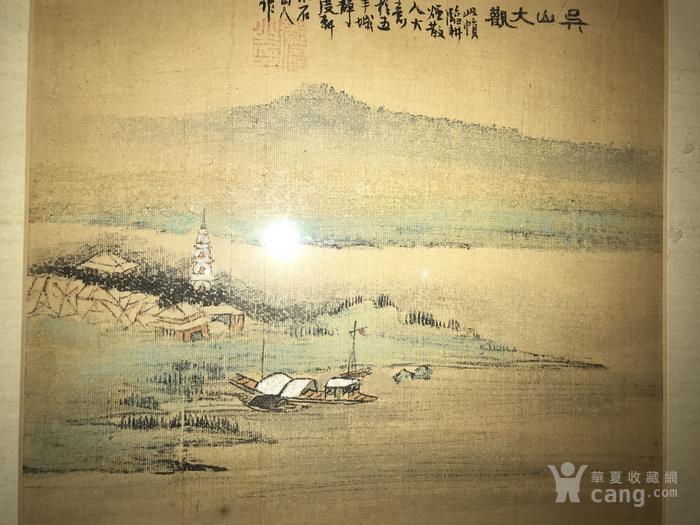 疑似清代画家邓涛绢本 吴山大观图4
