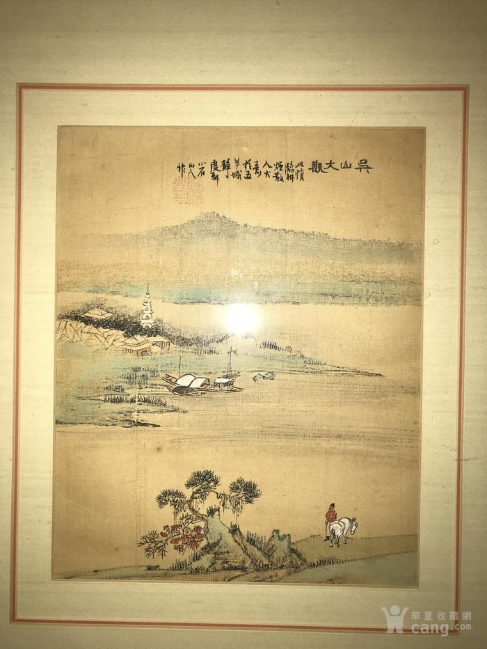 疑似清代画家邓涛绢本 吴山大观图1