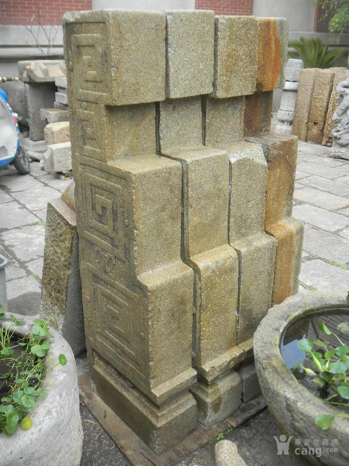 石牌坊二柱,四柱,全老货图7