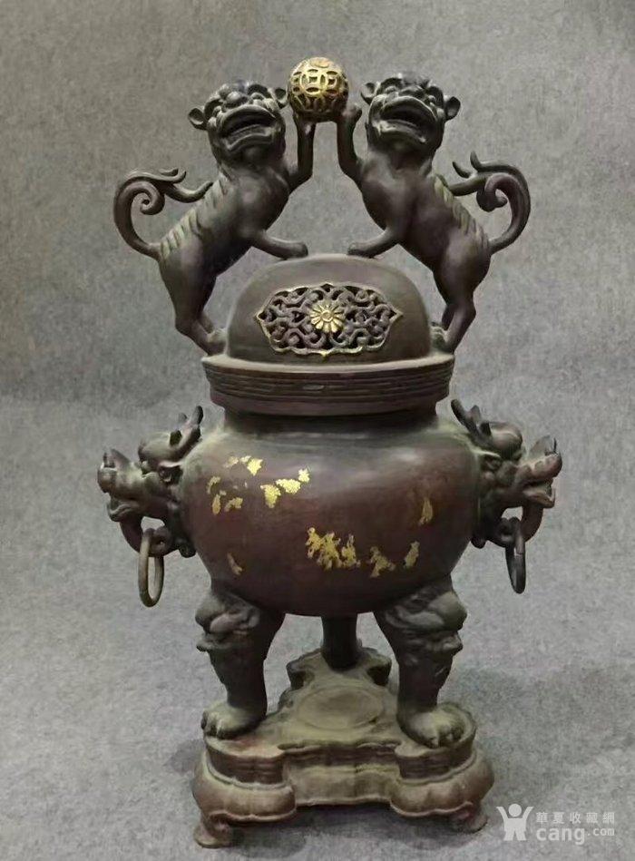 特大号型紫铜香熏炉图1
