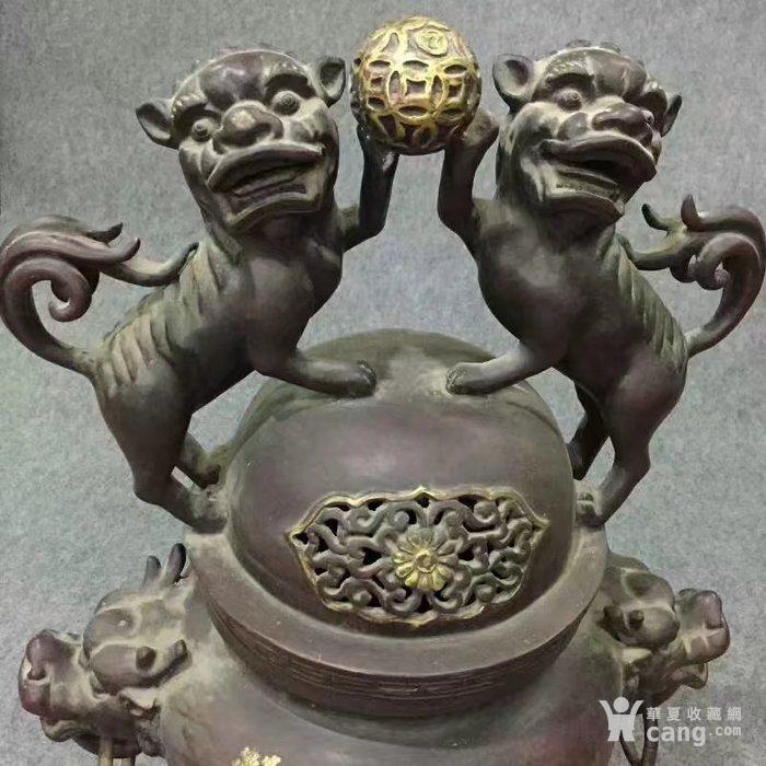 特大号型紫铜香熏炉图4