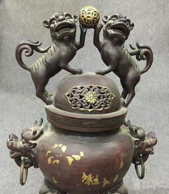 特大号型紫铜香熏炉图3
